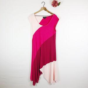 [LANE BRYANT] Asymmetric Color Block Dress